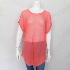 Eileen Fisher Coral Knit Oragnic LInen Sweater Top